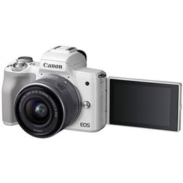 Canon EOS M50 Body With EF-M 15-45mm IS STM Lens Kit - White Thumbnail Image 9